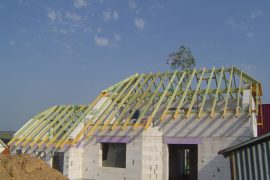 Dachstuhl im EFH Neubau